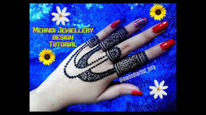 beautiful new stylish jewellery style henna mehndi designs for