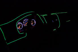 Neon Lights In Cars Interior Ez El Wire Green Car Kit Step By Step Tutorial 4 Steps