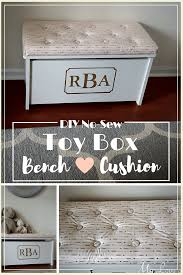 How To Make A Toy Chest Cushion by Diy Toy Box Bench Cushion My Love Of Style U2013 My Love Of Style