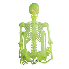 poseable skeleton static glow in the skeletons