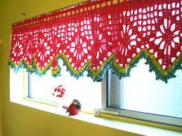 Free Valance Pattern 202 Best Crochet Curtains Images On Pinterest Crochet Curtains