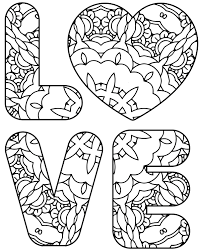 february free coloring pages u2013 valentine and love coloring pages