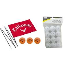 callaway golf backyard practice flag with 12 izzo perforated