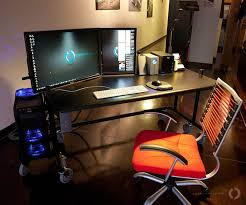 best desk for dual monitors one portrait one landscape dual monitor setup tech pinterest