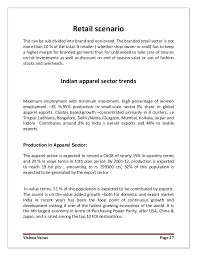 fashion retail resume research on apparel fashion retail industry in india