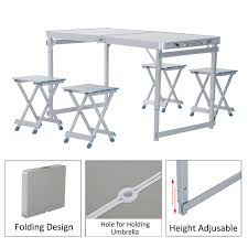 folding cing picnic table foldable portable picnic table w four seats the best table of 2018