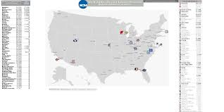 Tcnj Map 2011 Sweet 16 Teams Billsportsmaps Com Map Collegebasketball