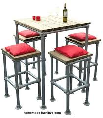 high table with bar stools high table with bar stools table and stools made from scaffolding