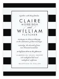 top 10 most glamorous black white striped wedding invitations