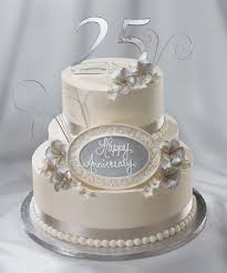 25th wedding anniversary cake silver anniversary