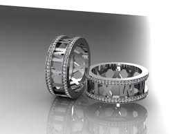 the numbers wedding band 45 best numeral wedding rings images on