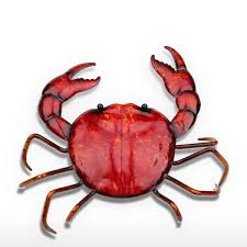 crab decorations for home best and cheap red tooarts crab ornament life like animal sculp
