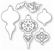 papertrey ink what the doodle ornament die papertrey ink clear