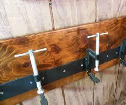 custom industrial c clamp coat rack by grease monkey inc