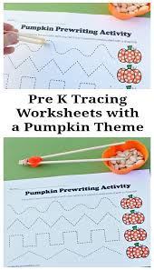 prek tracing worksheets with a pumpkin theme pinterest png