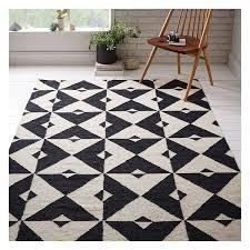 west elm graphic tile dhurrie iron 5 u0027x8 u0027 200 liked on