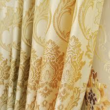 Jacquard Curtain Luxurious Jacquard Energy Saving Gold Curtains Buy Curtains