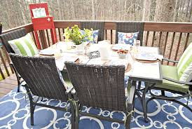 Outdoor Rugs Only Dining Set Only The Beginning Of Deck Makeover