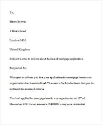 loan rejection letters 7 free sle exle format
