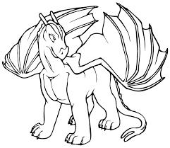 dragon clipart black white