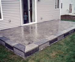 Cost Of Stamped Concrete Patio by Old Cost As Wells As Stamped Concrete Patio Home Design Ideas N