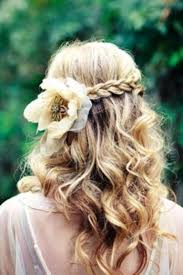wedding hairstyles ideas side ponytail curly half up fancy