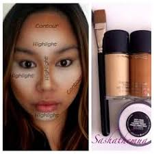 makeup nc50 foundation contouring with foundation contouring with powder contour with powder highlight contour strobe blush face