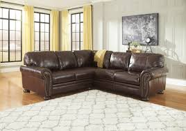Leather Sectional Sofa Traditional Banner Coffee Genuine Leather Sectional