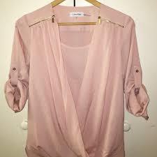 calvin klein blouses 77 calvin klein tops calvin klein blush blouse from s