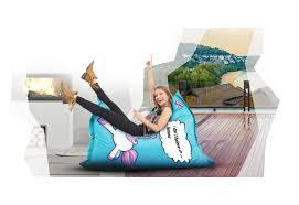 xxl beanbag u2013 roomox special edition unicorn print 160x120cm