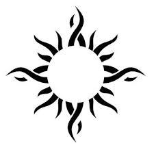 sun tattoo clipart