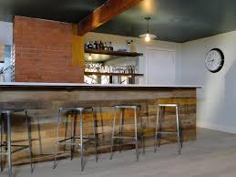 Home Bar Design Ideas by Interior Reclaimed Wood Bar Paneling For Basement Bar Also Brick