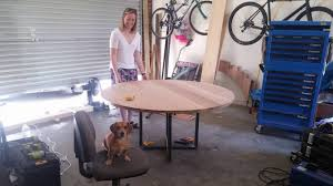 How To Make Your Own Dining Room Table by Diy Making Our Round Dining Table Youtube