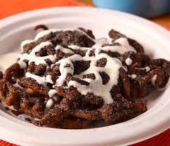 funnel cakes with oreo
