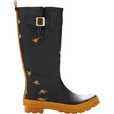 mackspw black friday joules welly rain boots black bees