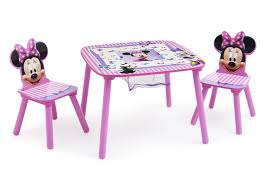 minnie mouse table u0026 chair set with storage delta children u0027s