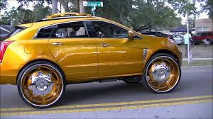 candy gold 2012 cadillac srx truck on 32