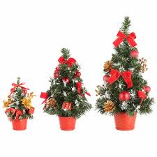 decorated mini christmas trees new christmas home decoration mini