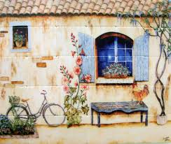 Wallpaper For Kitchen Backsplash French Country Kitchen Photos French Scene Wallpaper Mural French