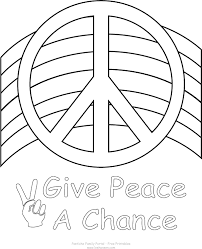 peace coloring pages girls print download