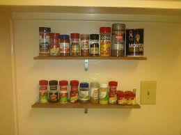 decorating appealing classic diy wall mounted wooden spice rack