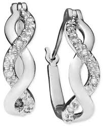 infinity earrings diamond infinity hoop earrings in 18k gold and sterling silver 1