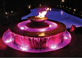 Fire Pit With Water Feature - fire features luxury pools