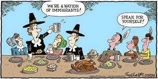 les tours de laliberté caricature thanksgiving et immigration