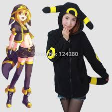Pokemon Halloween Costumes Girls Aliexpress Buy Cute Owl Fleece Pokemon Women Pikachu Hoodie