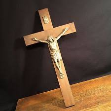 large crucifix large wood crucifix ebay