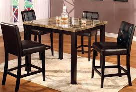 dining room high tables faux marble table set