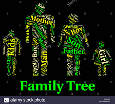 family tree meaning blood relation and genealogical stock photo