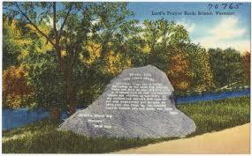 lord u0027s prayer rock bristol vermont digital commonwealth