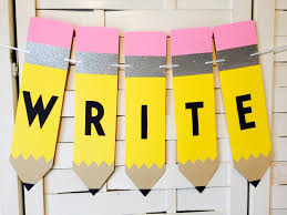write banner teacher gift classroom decoration reading